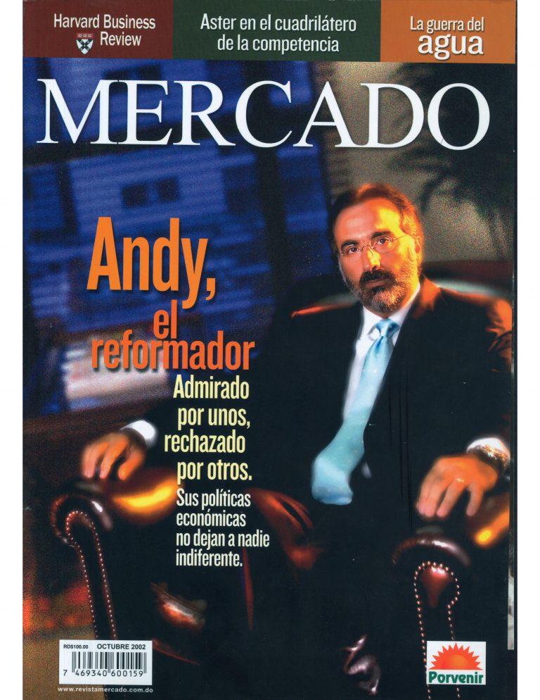 Portada de la Revista Mercado de Octubre de 2002.